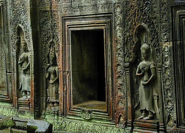 Ta Prohm Statues & Wall - Angkor Wat Travel Blog - Atlas Obscura