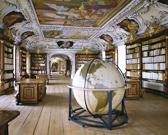Kremsmuenster Abbey Library, Kremsmunster, Austria