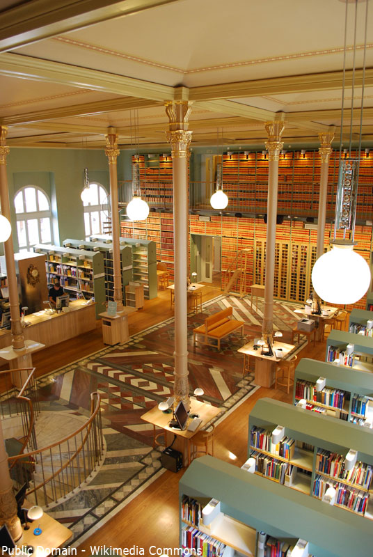 Riksdagen Library, Swedish Parliament Library, Stockholm
