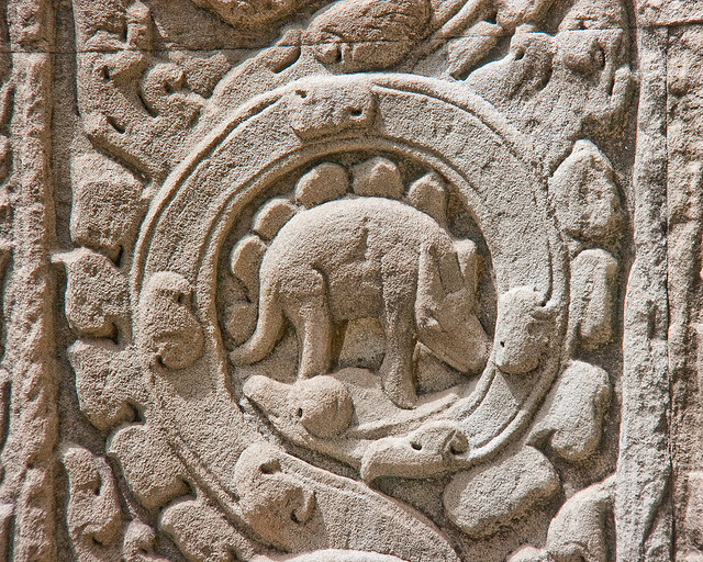Dinosaur of Ta Prohm - Cambodian Temple - Atlas Obscura Blog