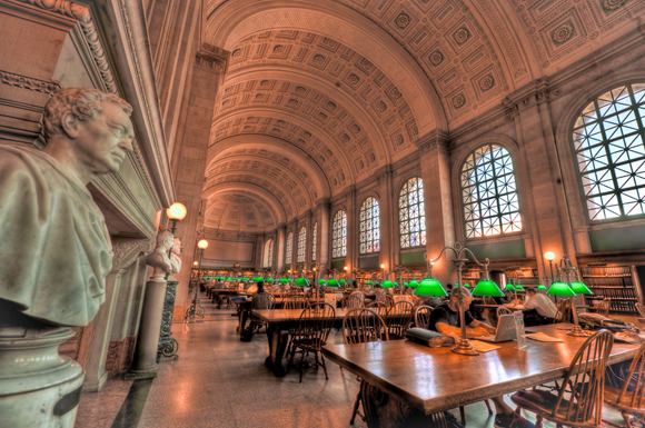 Boston Copley Public Library, Boston, Massachusetts, USA