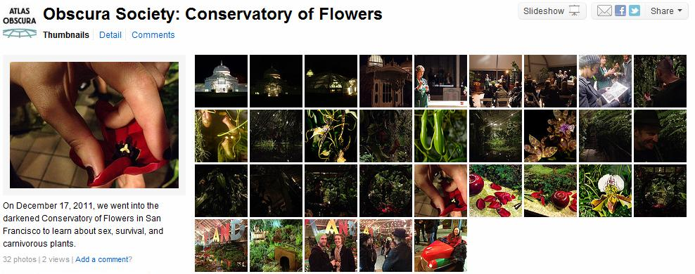 Obscura Society: Conservatory of Flowers