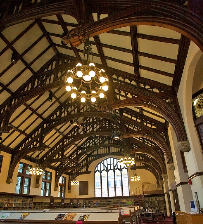 Mt. Holyoke College reading room