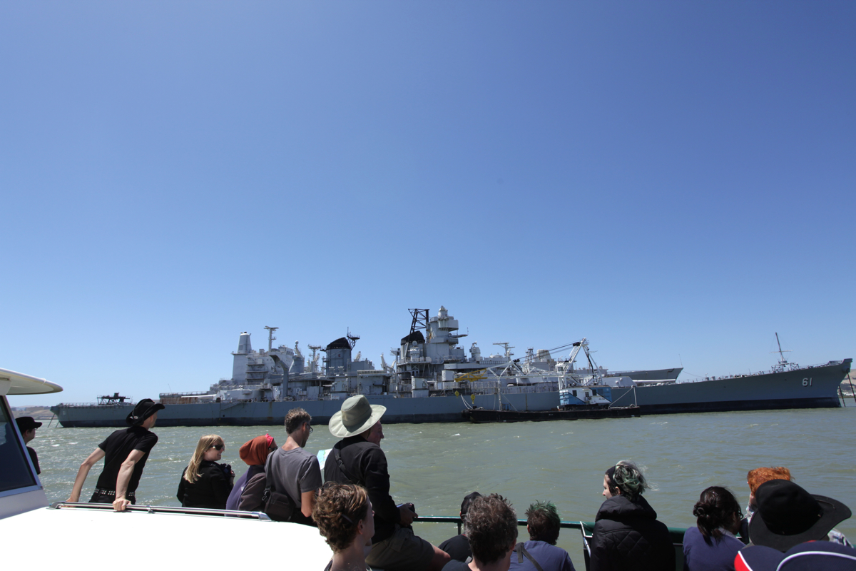USS Iowa http://atlasobscura.com/place/suisun-bay-ghost-fleet