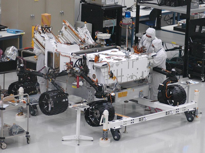 MSL Rover - California Clean Room - JPL - Atlas Obscura Blog