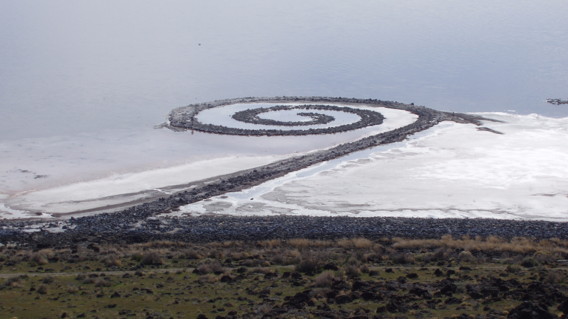 Spiral Jetty from Rozel Point - Salt Lake UT - Atlas Obscura Blog