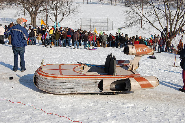 Minneapolis Art Sled Rally - Powderhorn Park 2011 - Atlas Obscura Blog