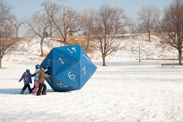 Art Sled Rally Powderhorn - Giant Die - Atlas Obscura Blog