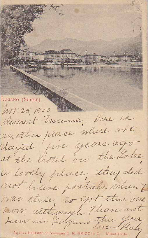 Lugano Suisse - Postcards from 1900 - Atlas Obscura Blog