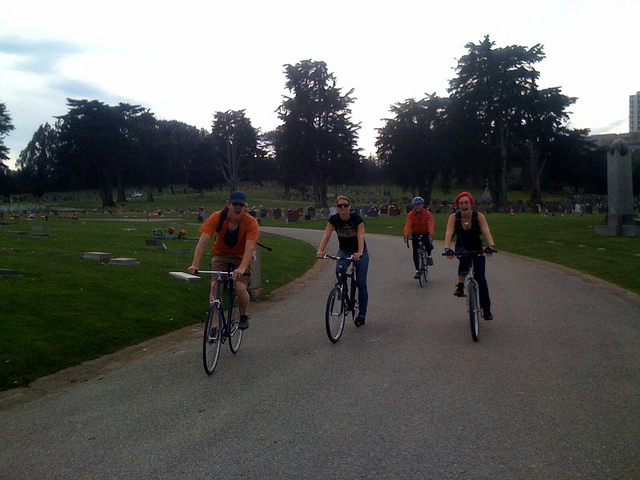 A rare downhill in Colma Cemeteries