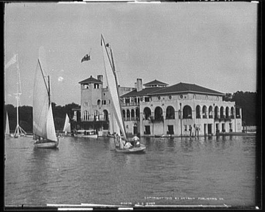 Belle Isle Boat Club 1905 - Historical Photos of Detroit - Atlas Obscura Blog