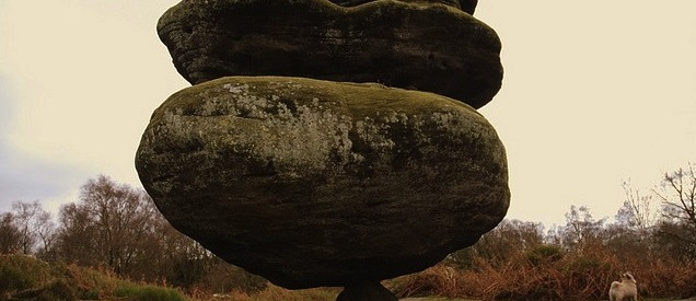 Brimham Rocks - Idol Rock - England - Balancing Objects - Precariously Perched