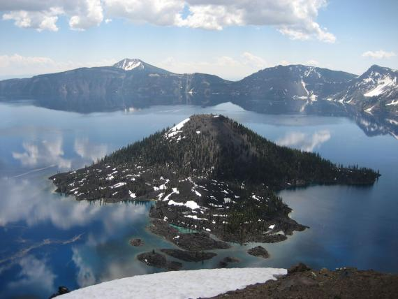 Crate Lake Volcano  - Atlas Obscura