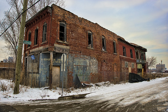 Detroit Ruins - Photo History of Detroit Then & Now - Atlas Obscura